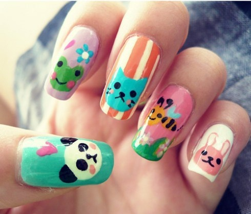 Cute Animal Nails