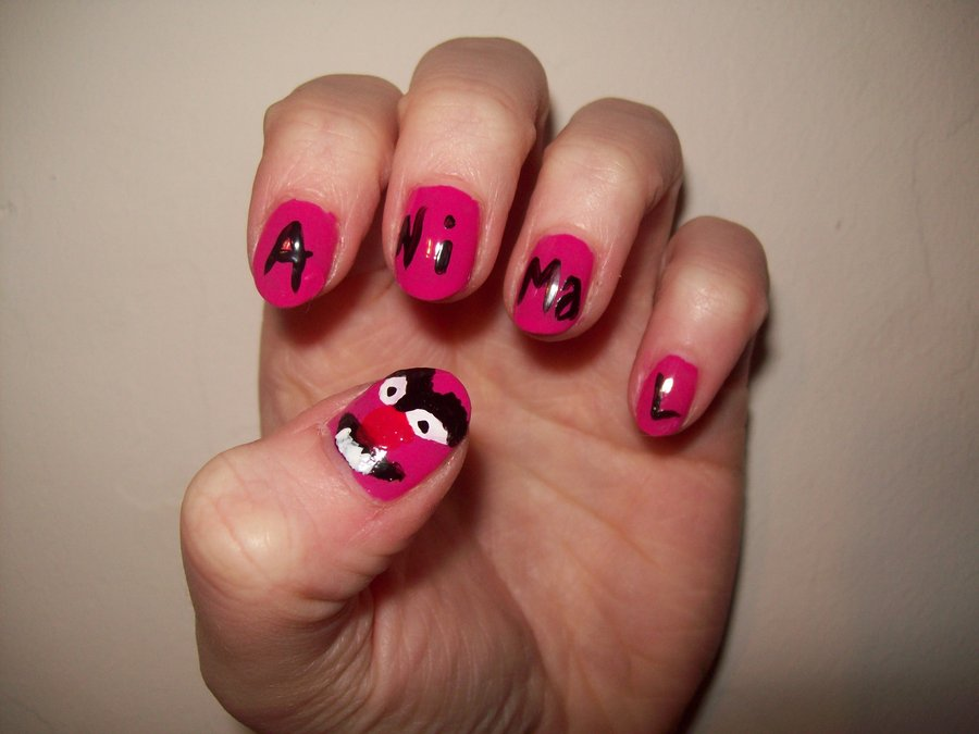 Animal Muppets Nail Art