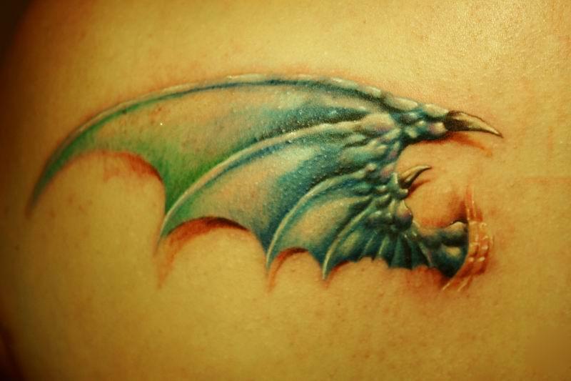 Dragon wing - tattoo