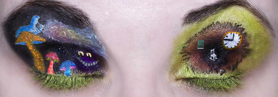Alice In Wonderland Inspired Eye Makeup