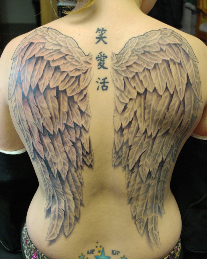 35+ Absolutely Cool and Powerful Wings Tattoo Design