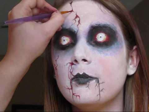 makeup halloween muñeca