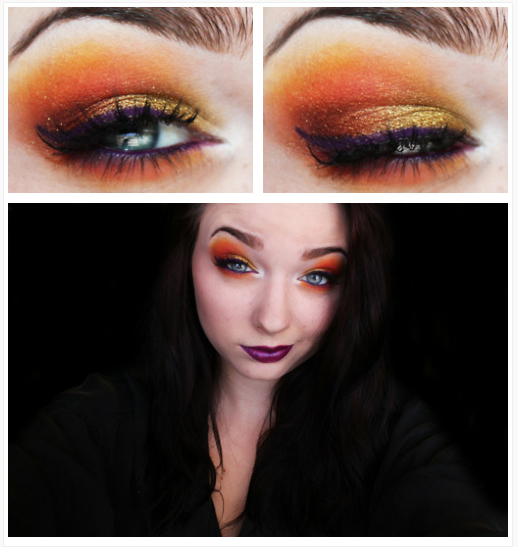 fire witch makeup