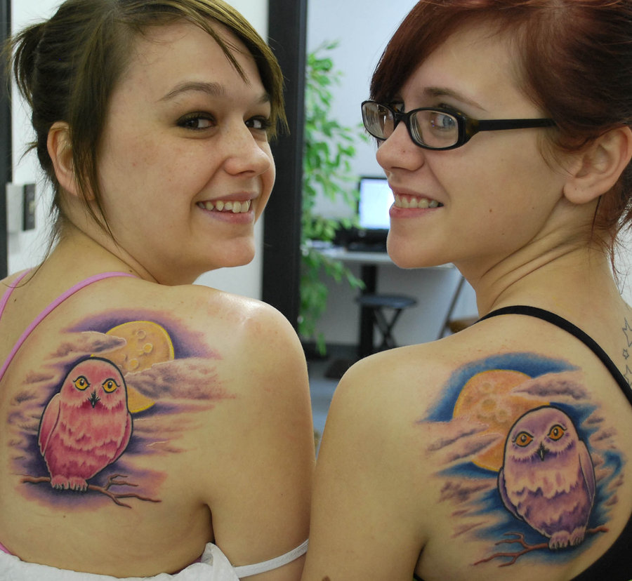 Matching Owl Tattoos
