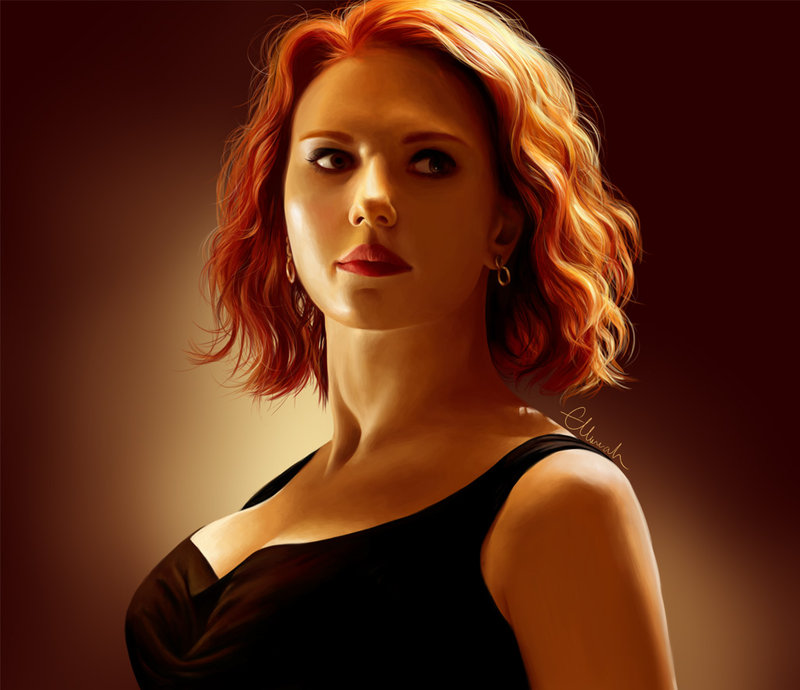 Digital Painting Natasha Romanoff Entertainmentmesh
