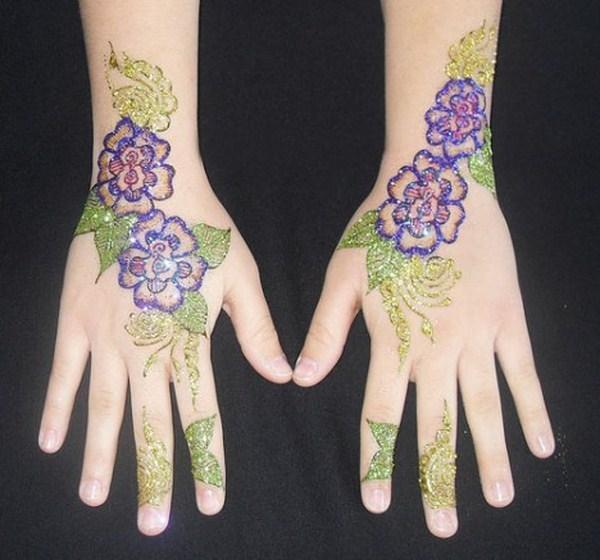 Eid Glitter Mehndi Pattern