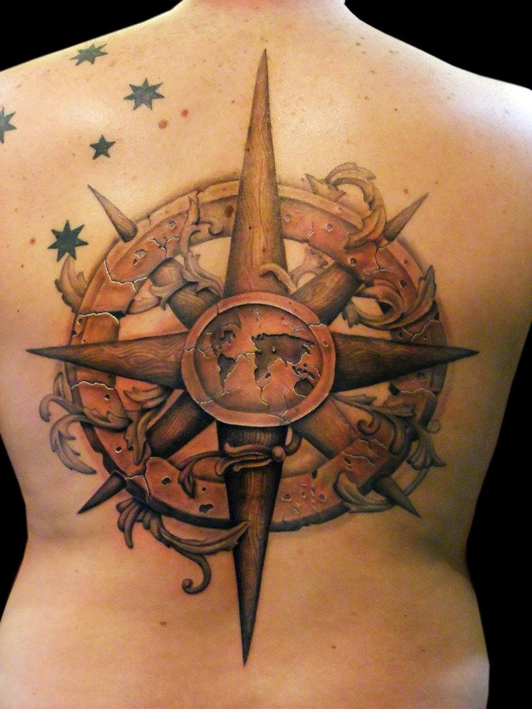 Ancient Compass Tattoo