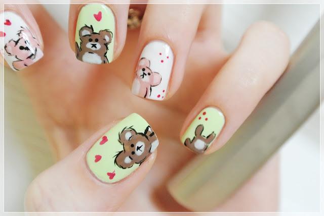 teddy bear manicure