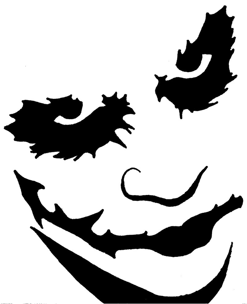 joker pumpkin stencil template free download download - Stencil Printouts Free