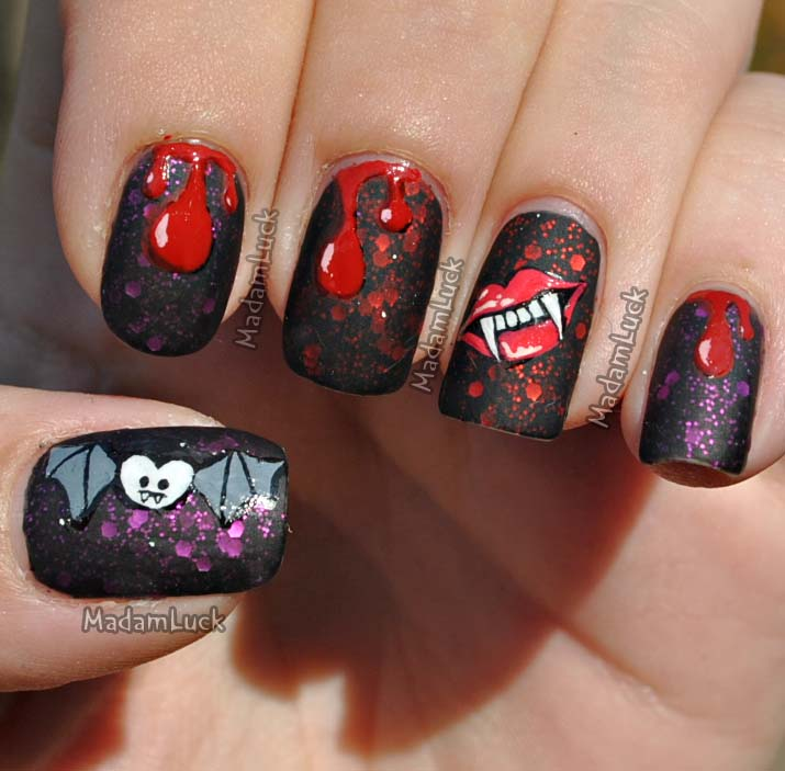 Halloween Nail Art: 25+ Extremely Spooky Halloween Nail Art Ideas