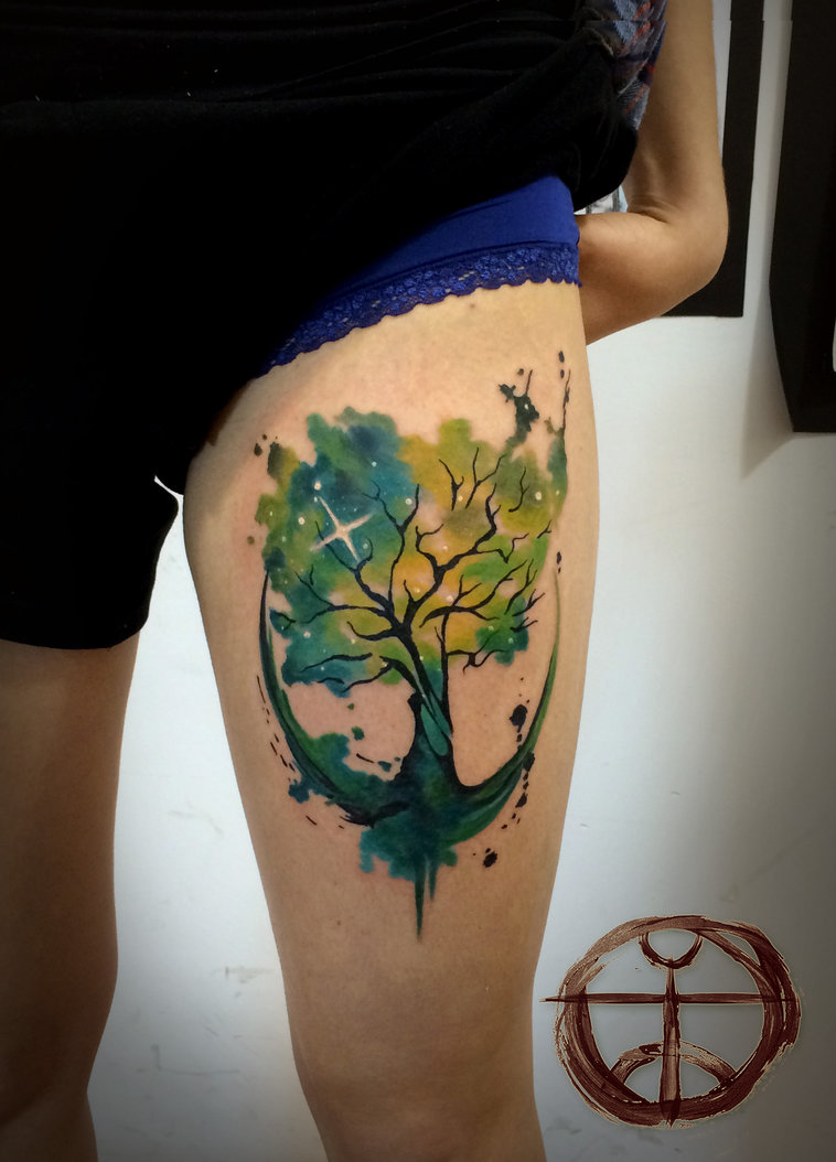 Tree Of Life Tattoo With Heart Roots: 30+ Symbolic Tree Tattoo Designs