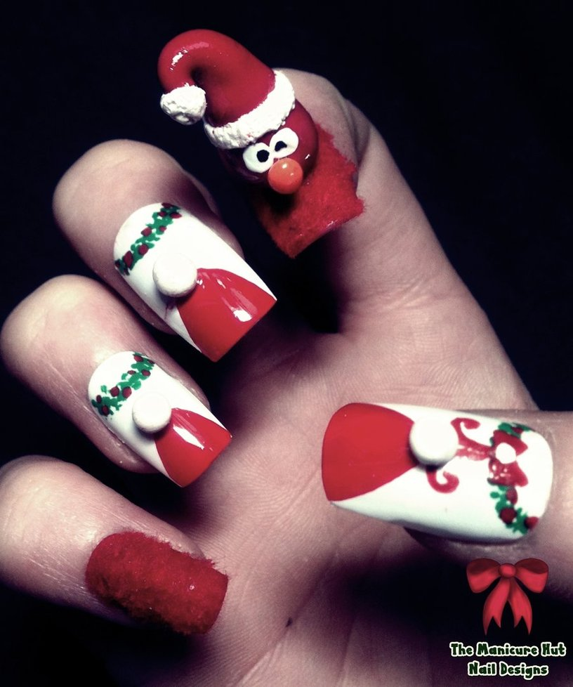 Holiday Nail Art: 30 Best Christmas Nail Art Design Ideas Pictures 2015