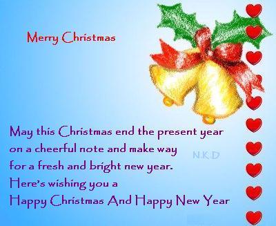 4 Christmas Greeting Card Message