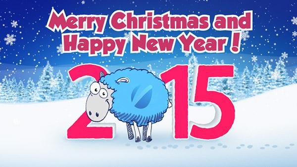 Christmas Sheep Greetings 201