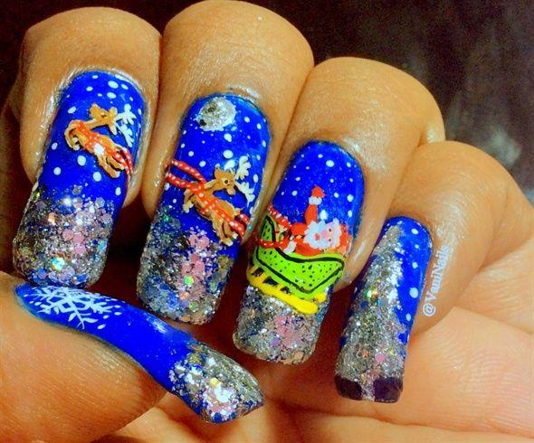 Christmas nail art idea