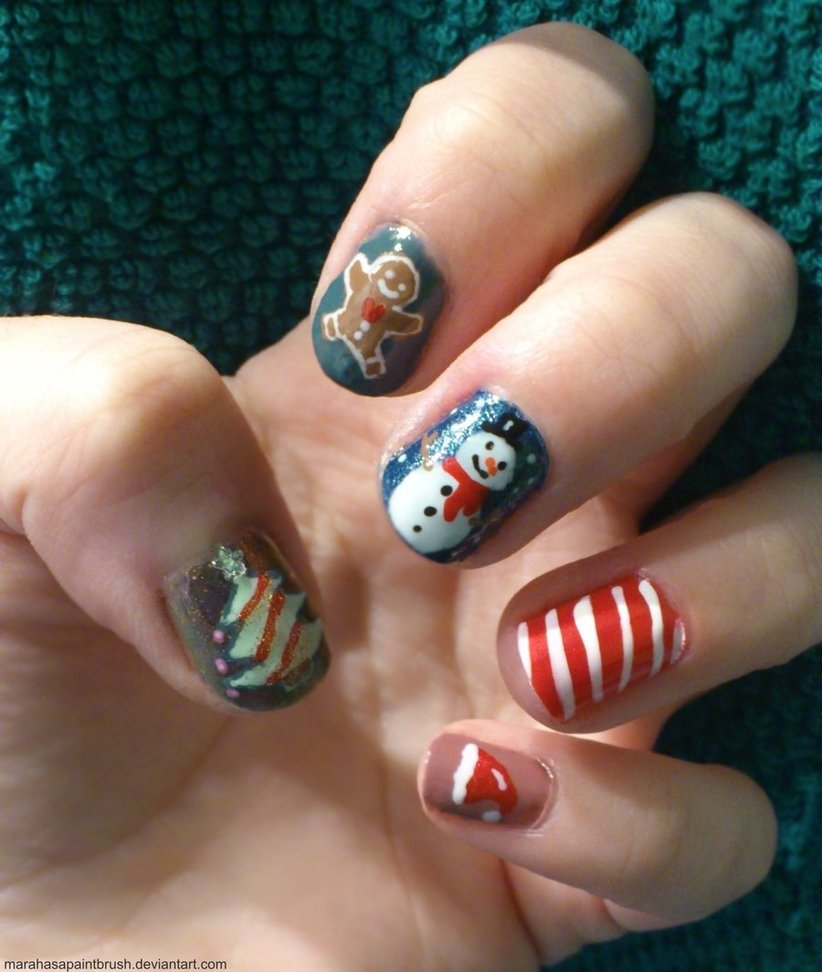 Christmas Nail Art Designs Gallery: 30 Best Christmas Nail Art Design Ideas Pictures 2015
