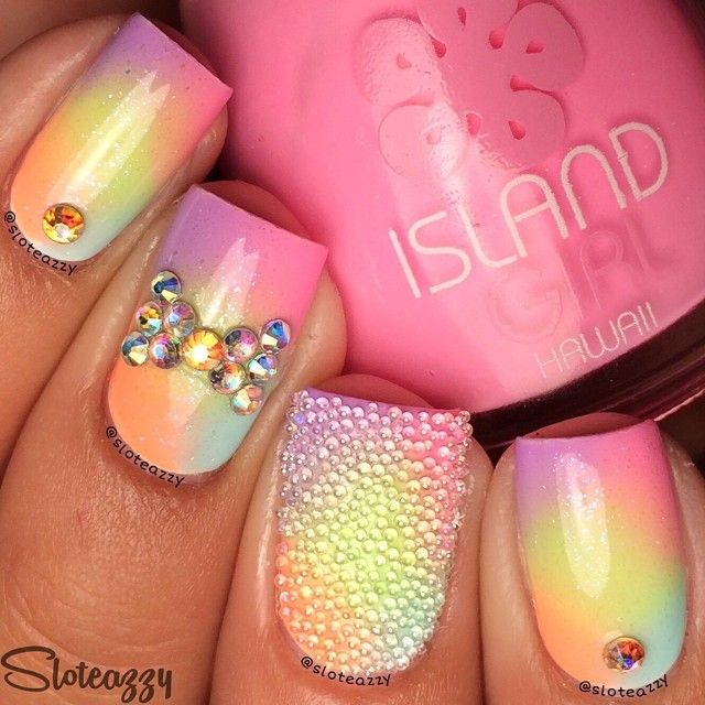 beautiful diamond nails