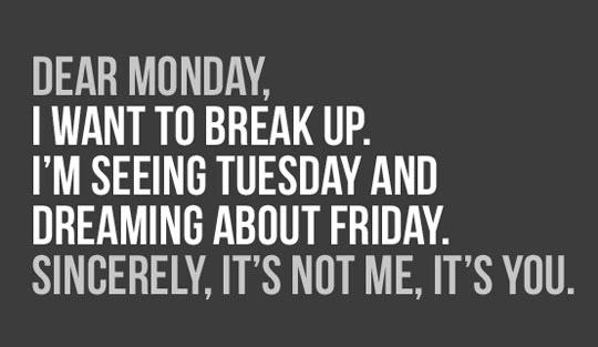 funny saying dear monday