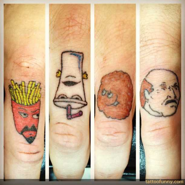 funny tattoo on finger 14