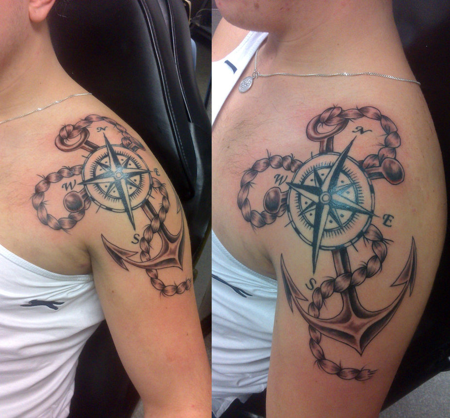 20+ Awesome Anchor and Compass Tattoo | EntertainmentMesh