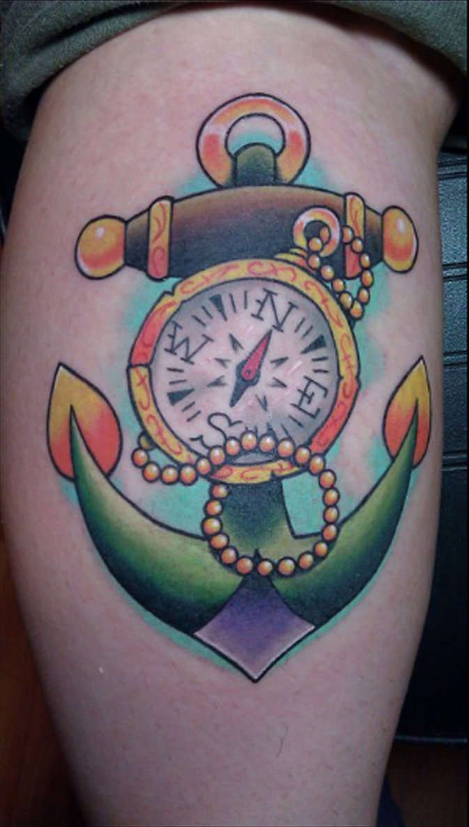 Traditional Compass Tatoo: 20+ Awesome Anchor And Compass Tattoo