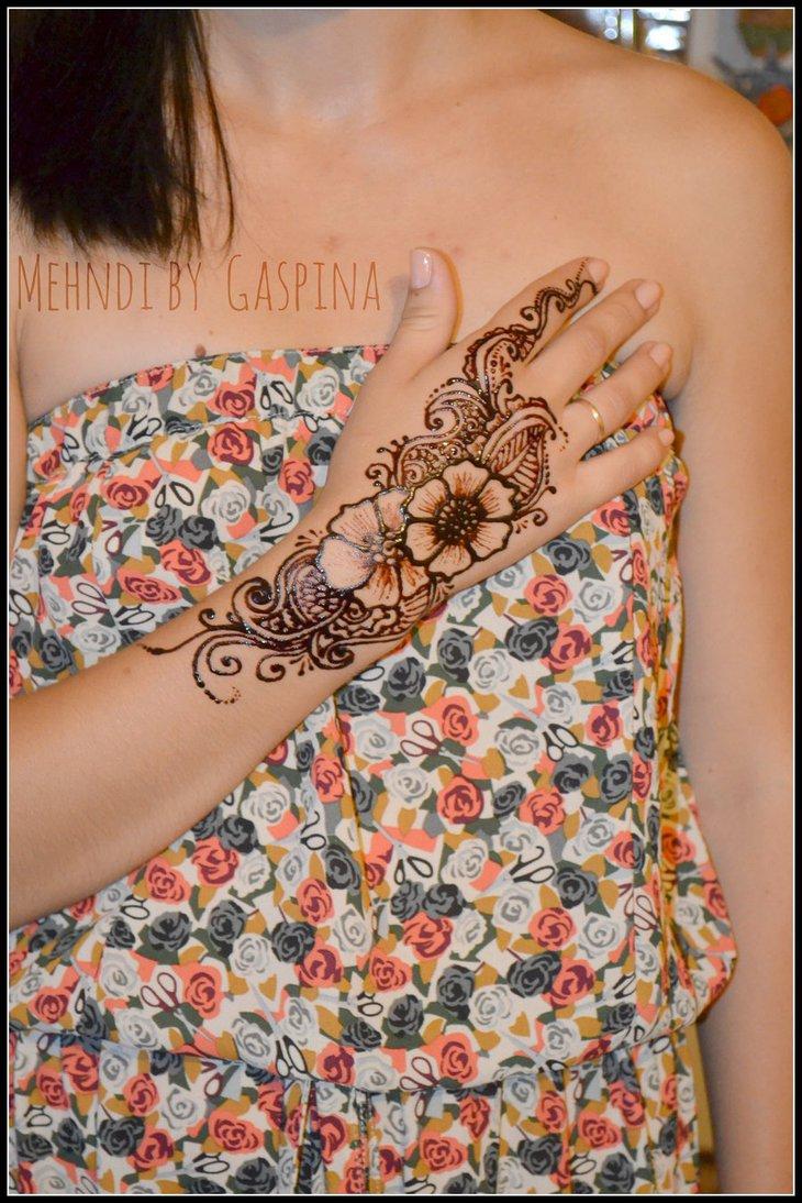 Flower Mehndi Designs 1