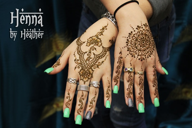 Modern Henna design for eid ul fitr