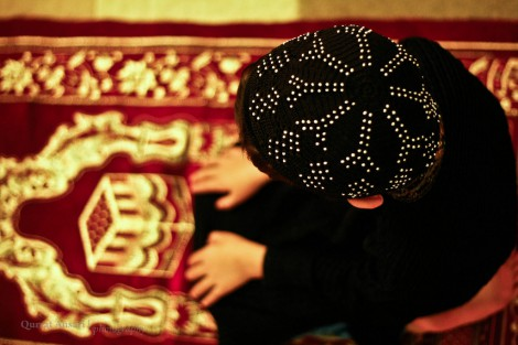 Ramdan Prayers little boy