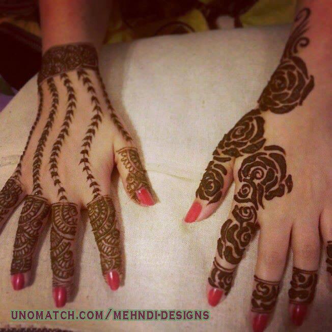 Mehndi For Back : Latest back hand mehndi design ideas for eid