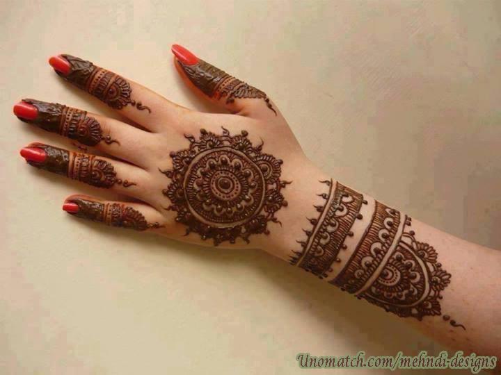 Mehndi Unique Designs 2015 : Latest back hand mehndi design ideas for eid