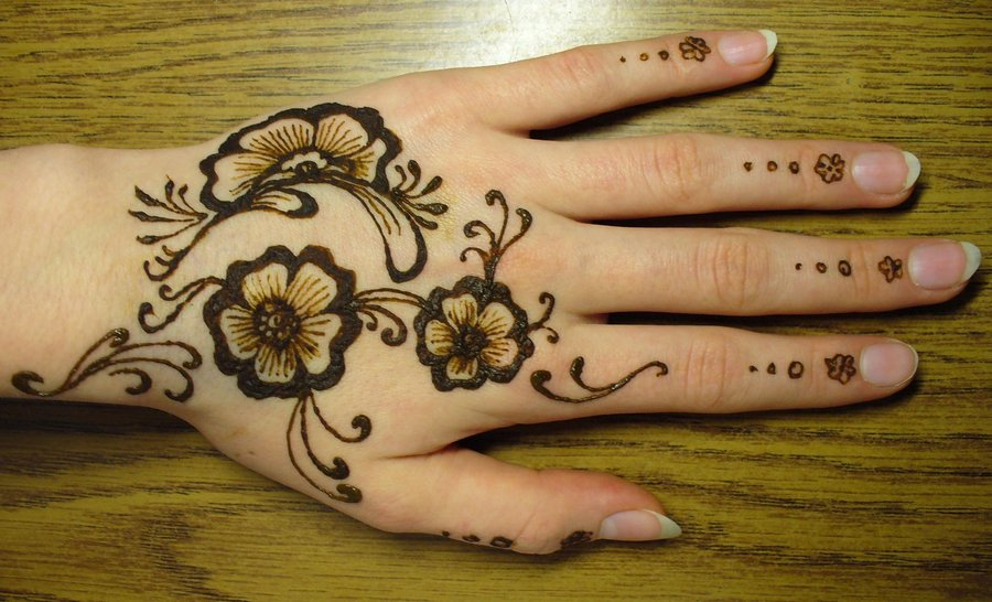 floral mehndi designs 1