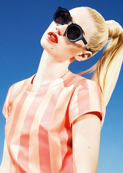high ponytail hairstyle