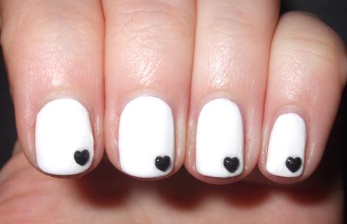 20 black and white nail design