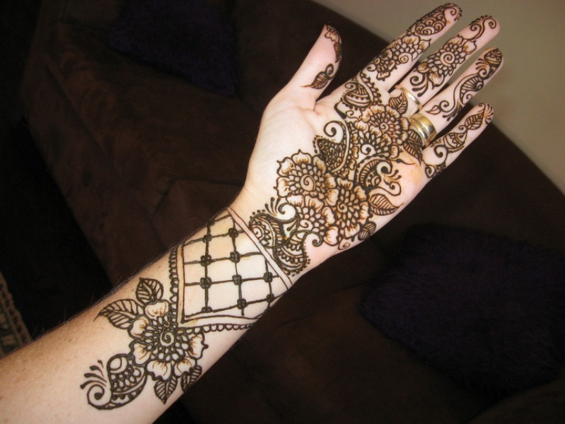 Arabian Mehndi Style : Beautiful arabic henna mehndi designs for girls hands