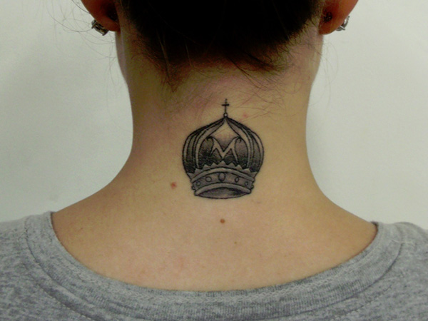 30 simple and elegant small tattoo designs for girls for Crown royal tattoo