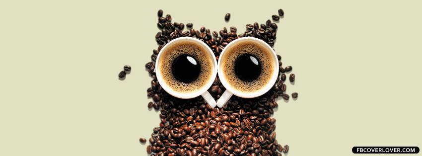cute coffee owl timeline photo