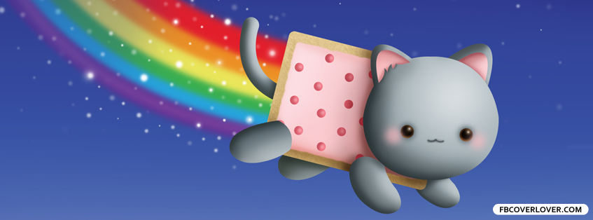 cute nyan cat fb profile pic