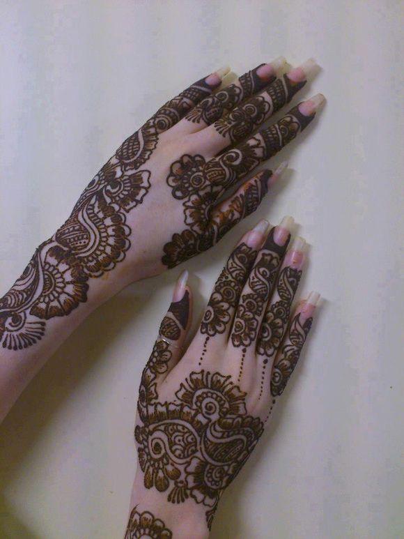 latest arabic henna designs on hands
