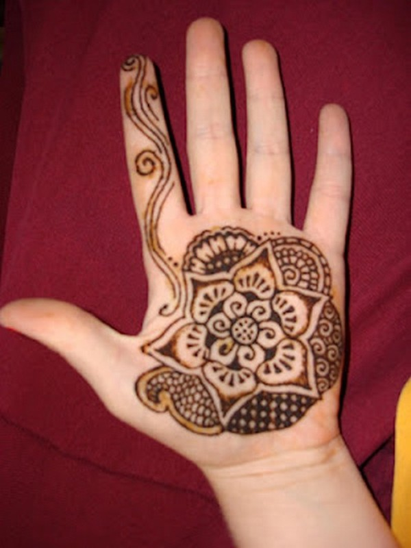 Simple Arabic Flower Mehndi Designs : Beautiful arabic henna mehndi designs for girls hands