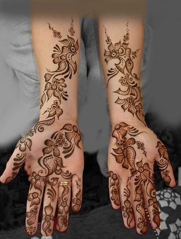 Mehndi Hands New : Beautiful arabic henna mehndi designs for girls hands
