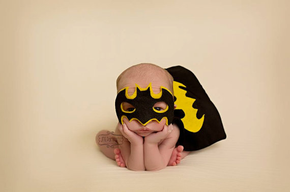 Batman newborn baby costumes for Halloween