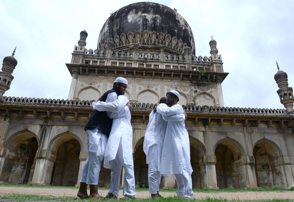 Eid Al Fitr Celebration Qutub Shahi Tomb Hyderabad India