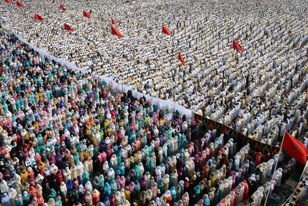 Eid Al Fitr Prayer Moroccan capital Rabat 2015