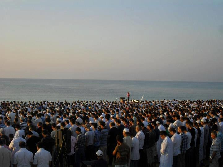 Eid Salat at Ocean in Tunisia