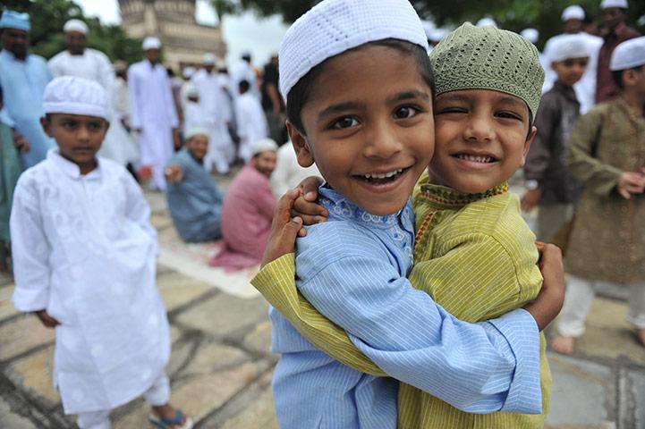 Eid al-Fitr Celebration Hug
