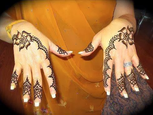 easy henna for hands