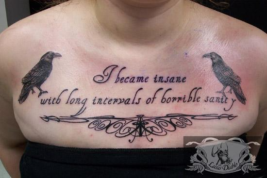 gothic tattoo lettering
