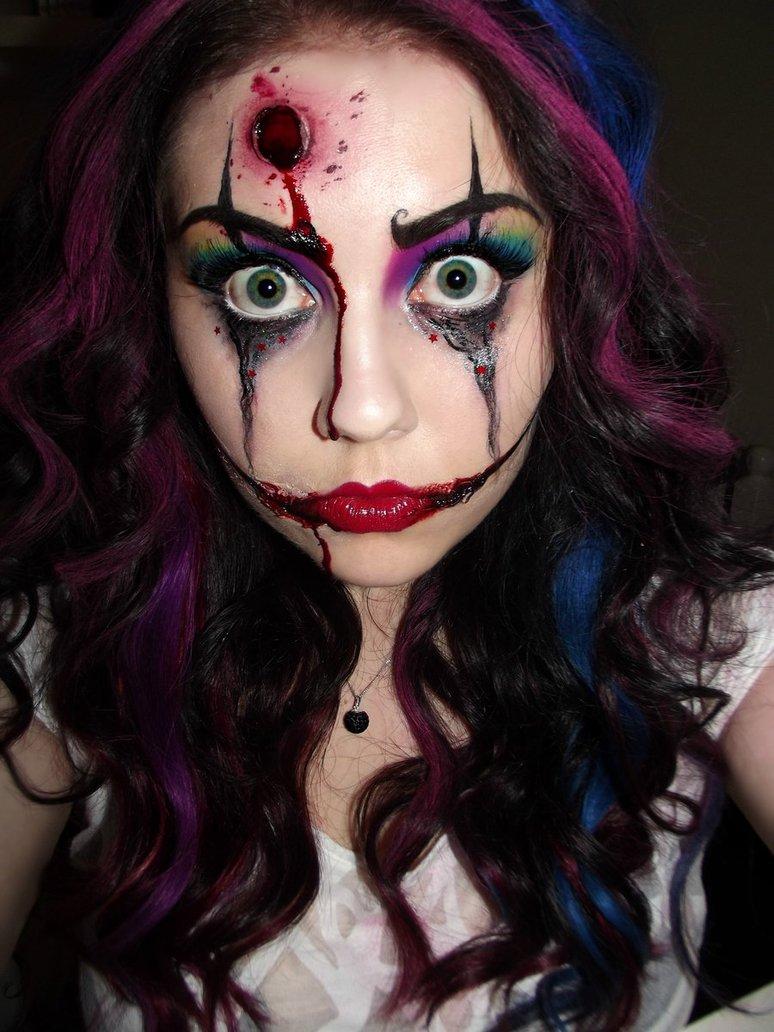 halloween makeup ideas- bitch from clown town