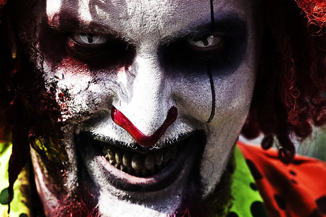 halloween makeup ideas - devil clown