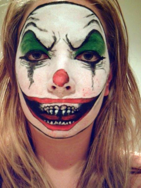 halloween makeup ideas - evil clown makeup